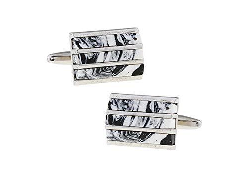 Ubestlove Cufflink Holder Rectangle Cufflinks Cufflinks for Men 1990 Brass Cuff Links