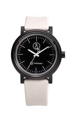Q&Q SmileSolar Serie schwarzes Zifferblatt x weißes Armband RP12J004Y Powered by Solar