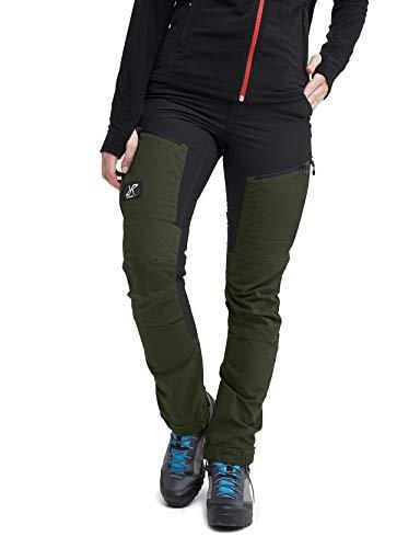 RevolutionRace Damen GPX Pro Pants, Hose zum Wandern und für viele Outdoor-Aktivitäten, Forest Green, 40