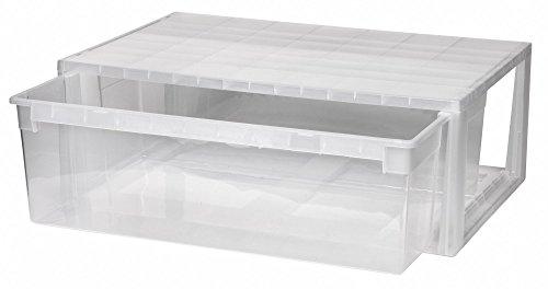 KREHER Schubladenbox mit 36 Liter Nutzvolumen in Größe Extra Large (XL). Passend für z.B. Pullover, Hosen, Bettwäsche, Schals, u.v.m. Kombinierbar mit anderen Boxen zu einem Boxensystem! SUPER