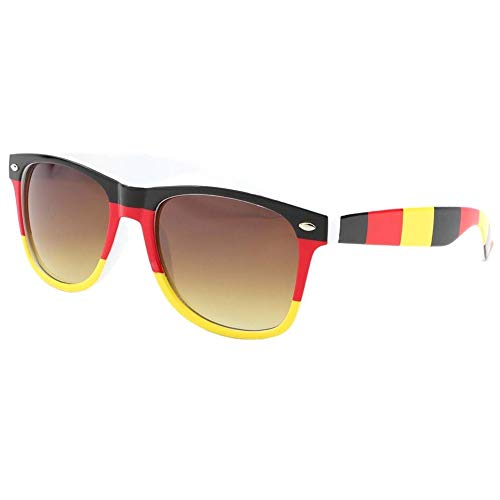 Eye Wear Lunettes de soleil Allemagne Noire Rouge Jaune - Mixte