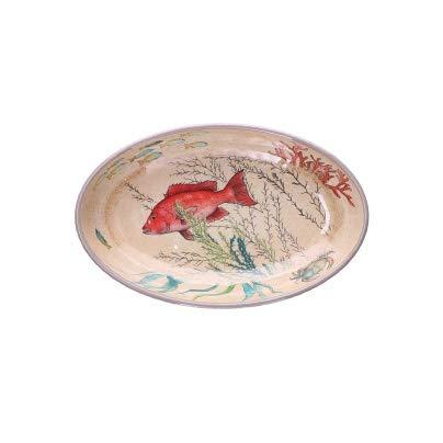 Nador Sea Life Set 2 Piatti Ovale 100% Melamina 24X15 cm in Confezione Regalo