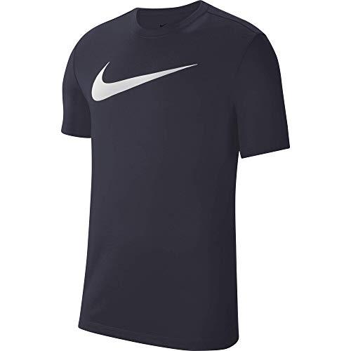NIKE Park 20 Camiseta, Obsidian/Blanco, L para Hombre