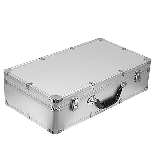 51x28x13.5cm Estuche de herramientas de aluminio Caja para exteriores Equipo de seguridad portátil Estuche para instrumentos Maleta Equipo de seguridad para exteriores, plateado