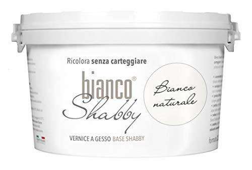 CHALK PAINT Bianco Naturale per Mobili e Pareti - Pittura Shabby Chic Vintage EXTRA OPACA (2,5 Litri)