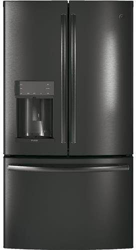 Price comparison product image GE Profile PFE28KBLTS 36 French Door Refrigerator with 27.8 cu. ft. Total Capacity in Black Stainless Steel