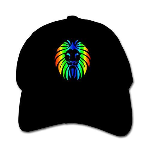 Rainbow Lion Unisex Sports Cap Teen Hut Sunproof Kids Cap Hip-Hop Cap Verstellbare Baseball Cap Sun Hat für Kinder