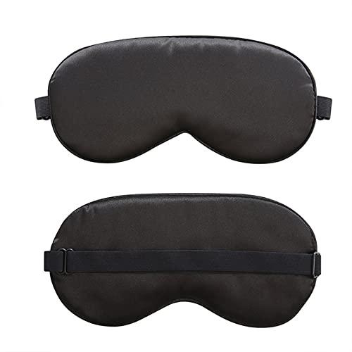 Mascarilla de Ojos de Noche Suave y cómoda para Hombres Mujeres Oye Blinder Travel Sleeping Shift Funciona una Noche Completa (Color : Black)