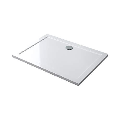 Duschwanne Duschtasse Lucia/Faro in weiß, Form: Rechteckig, TBH: 75x90x4cm