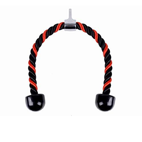 Cuerdas de Tríceps Polea,Tianher Cuerda Tríceps Polea de Tirar Hacia Abajo De la Cuerda con Cuerda Traccion Musculacion Las Combinaciones De Entrenamiento De Fuerza Del Brazo.