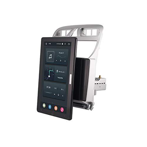 Foof Autoradio 2 DIN Android Multimedia Bluetooth Manos Libres GPS Radio De Coche Pantalla Táctil De 13.3'' Auto Rotativo Cámara De Respaldo/DSP/FM for Peugeot 307 1 2001-2008,Px5,10.1inch
