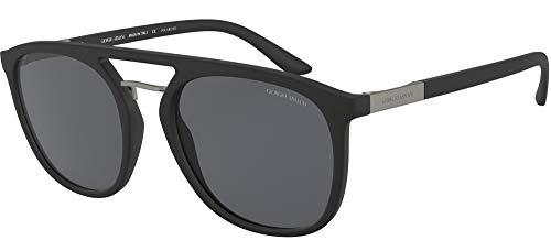 Giorgio Armani 0AR8118 Gafas de sol, Negro Mate, 53 para Hombre