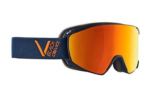 Black Crevice Unisexe - Masque de Ski Schladming, Navy Orange Taille M (Tour de tête 55-58 cm)