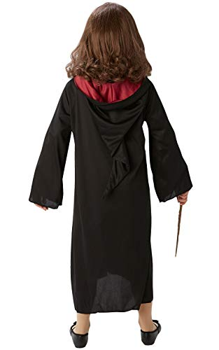 Rubies-Official-Harry-Potter-Hermione-Granger-Gryffindor-Costume-Set-with-Robe-Wig-and-Wand-One-Size-Approx-Age-4-8-Years