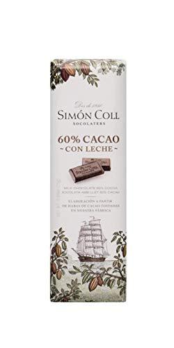 Chocolates Simón Coll Chocolate Leche 60% Cacao - 14 Unidades x 25g