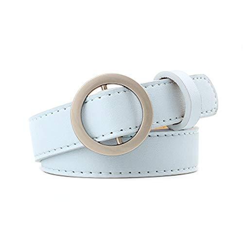 Damen elastischer Gürtel Multi-Color Choice Travel muss ein einzelnes Produkt mitbringen Nadelfreie Runde Schnalle Freies Stanzen Damen Gürtel Jeans Gürtel Weibliche Casual Studenten für Kleid Gürtel