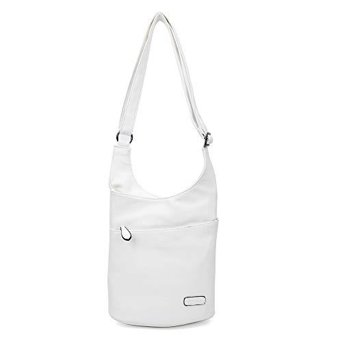 Damen Umhängetasche Weiß - Schultertasche - Damenhandtasche - Handtasche - Crossbody - Messenger Bag - Shopper Tasche - premium Tote