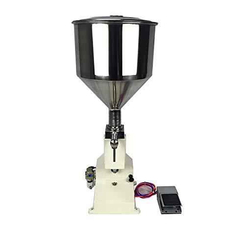 LWQ Pneumatische Füllmaschine, Edelstahl Paste Flüssige Füllmaschine 5-50Ml Sahne Speisen Honig Paste