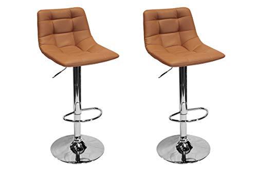 Best Master Furniture Hayden Modern Adjustable Height Bar Stool, Set of 2, Cappuccino