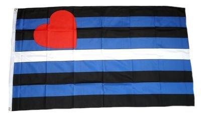 FahnenMax drapeau figurines en cuir pride 90 x 150 cm