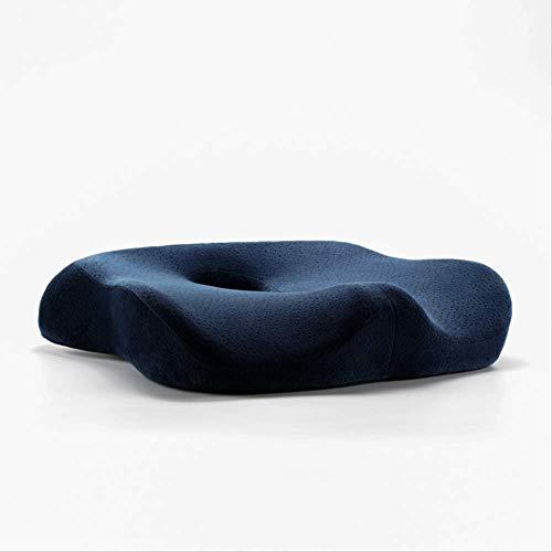 Premium Comfort Seat Cushion - Non-Slip Orthopedic Memory Foam Cushion for Office Chair Car Seat