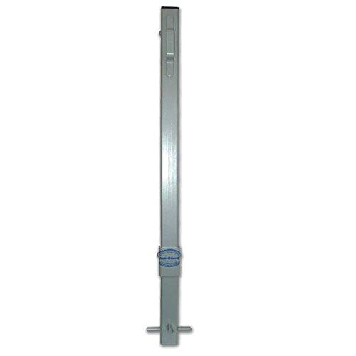 ald69–kickstop Silber CP2Beton Fix Parking Post C/W Schwarz Kunststoff Wetter Kappe & 'D' Geformter Griff