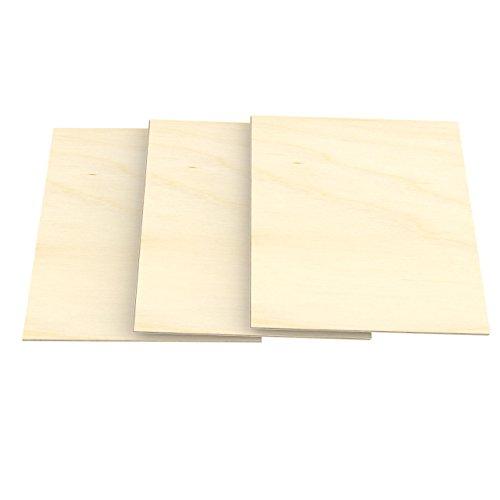 AUPROTEC 3x A3 Sperrholz-Platten Birke 10mm Multiplexplatten (297 mm x 420 mm) Bastel- und Laubsäge-Holzplatten Birke Massiv Multiplex Holz 1. Klasse Industriequalität