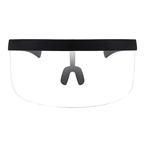 Sharplace Gafas de Sol con Visera de Protección de Media Cara de Seguridad Gafas UV400 de Prevención de Salpicaduras Al Aire Libre - Marco Negro, 160x64 mm