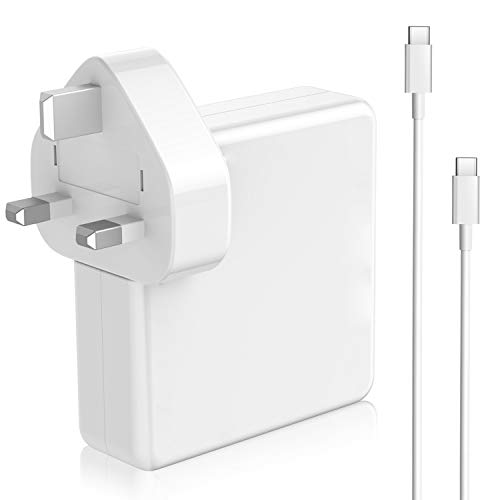 61W USB-C Power Adapter Compatible With Macbook Pro Charger USB C 2016 2017 2018 2019,Replacement Thunderbolt Charger For New Macbook Air 2018 2019,Work With Other USB C Device,Come With USB C Cable