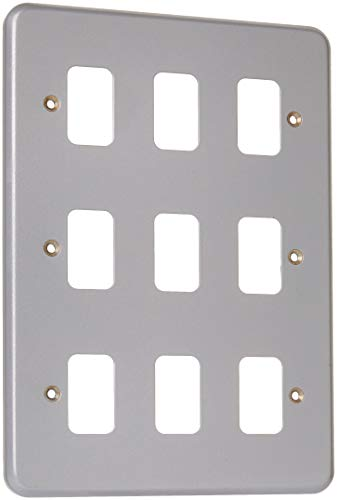 MK Electric Metalclad Plus Grid Plus 9-Modul-Frontplatte