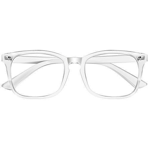 Okany Gafas Luz Azul Gafas para Ordenador Cuadradas Gafas Filtro Azul Mujer Hombre Anti-reflejantes Anti Fatiga Anti-UV gafas sin graduar para Gaming PC TV