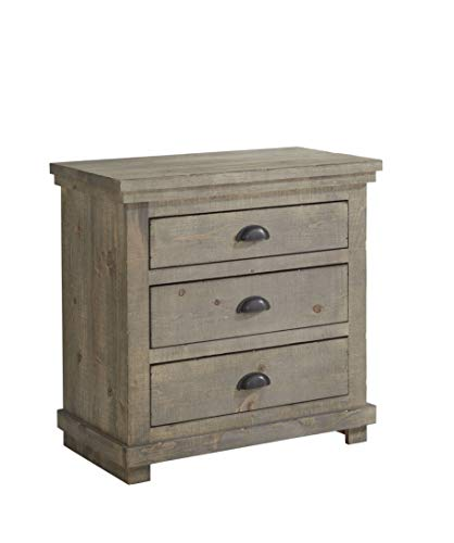 Progressive Furniture Willow Nightstand, Weathered Gray -  P635-43