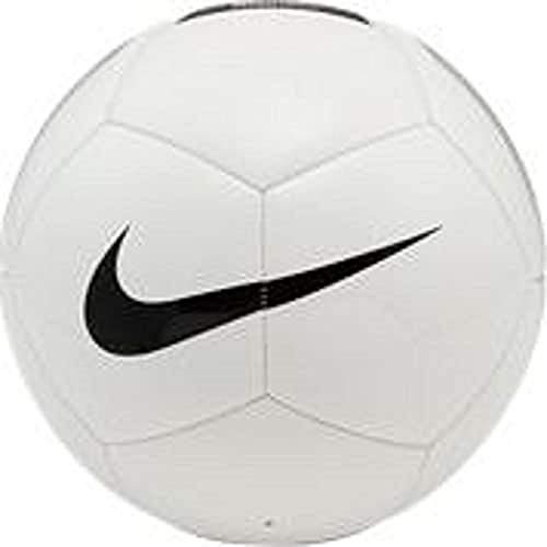 NIKE Pitch Team Soccer Ball Balones de fútbol de Entrenamiento, Unisex-Adult, White/Black, 4