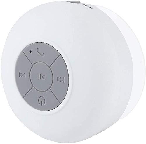 Langguth Bad Lautsprecher: Lautsprecher mit Bluetooth, Freisprechfunktion und Saugnapf, IPX4 (Lautsprecher Dusche, Bluetooth), weiß