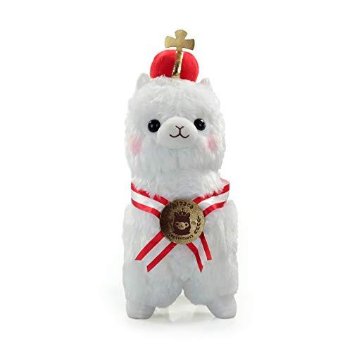 Meralens Peluche de alpaca grande, esponjoso y suave, gran peluche para enamorar, en color blanco