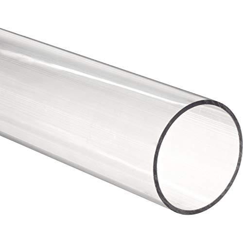 Tubo de policarbonato transparente, diámetro exterior 90mm pared 2mm longitud 1m