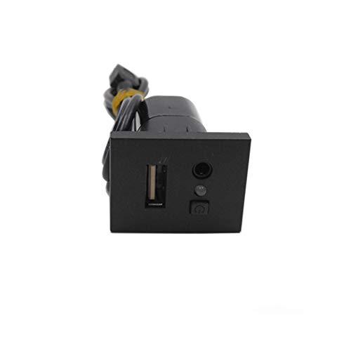 PENGFA Wshao Store Capa USB AUX Slot Adaptador de Entrada Cable de Interfaz USB Toma de Encaje Ajuste para Ford Focus 2 MK2 2009 2010 2011 (Color : Black)