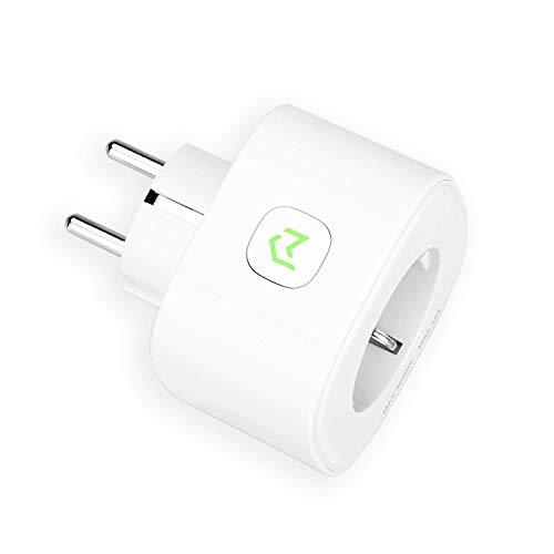 Presa Intelligente Wifi 16A 3680W Smart Plug(TypeF) Energy Monitor Protezione Sovraccarico, Funzione Timer, APP Controllo Remoto, Compatibile con SmartThings, Amazon Alexa, Google Home e IFTTT
