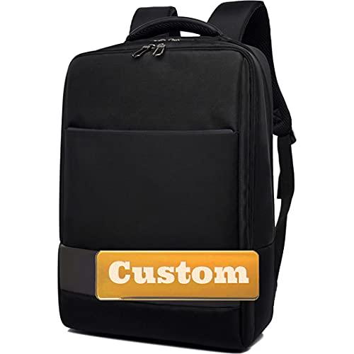 FireH Nome personalizzato Personalizzato College Bag Computer Business Zaino USB CHARGING 17 Borsa per laptop (Color : HeiA, Size : One size)