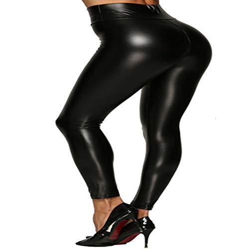 Primavera Y OtoñO Pantalones De Cuero De La PU Leggings De Ropa Exterior De Mujer Pantalones Delgados CáLidos EláSticos De Cuatro VíAs para Mujer