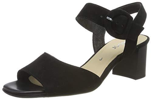 Gabor Shoes Gabor Fashion, Sandalia con Pulsera Mujer, Negro (Schwarz 17), 39 EU