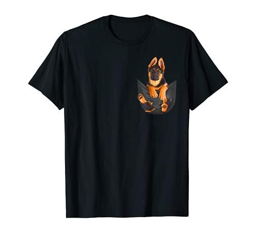 Pocket German Shepherd Puppy! Cute Dog Lover T-Shirt T-Shirt
