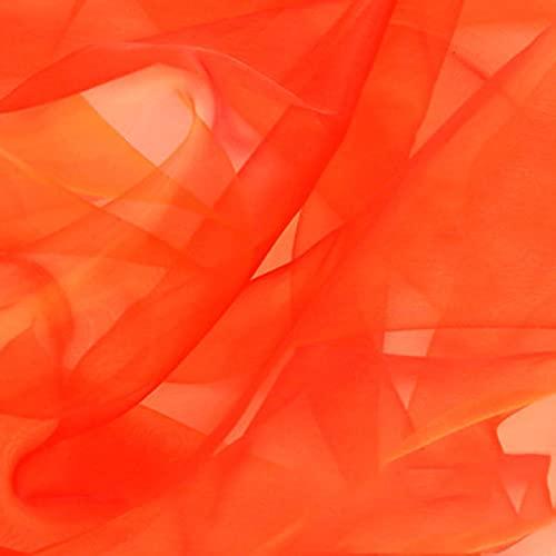 QDTD 150 cm de Ancho Tela de Organza Tela de Tul Organza de Arcoiris Carrete de Rollo de Tul con Lentejuelas para Decoración Boda Fiesta Falda Bricolaje Artesanal Cinta(Rojo Dorado)(Size:1.5 * 20m)