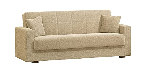 divano soggiorno Dmora Divano Letto 3 posti con Contenitore