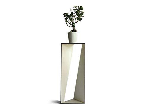 Moderno tavolo piedistallo angolare alto espositivo per piante Angoliera soggiorno di design in molti colori Espositore vaso da fiori interni Tavolino d'angolo salotto interno esposizione rampicanti