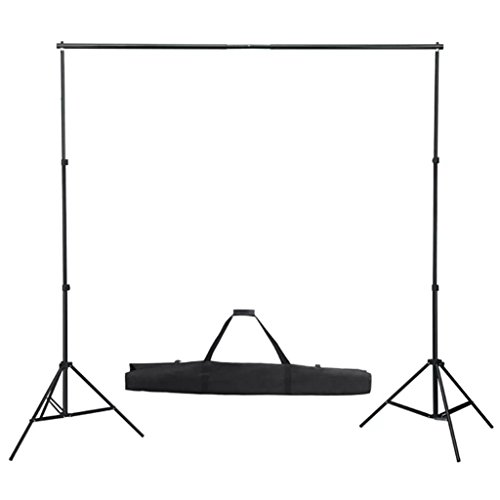 Tidyard Fotohintergrund portables Teleskop-Hintergrundsystem Professional Studio Background System Photo Studio Telescopic Photo Stand Kit incl. Background Fabric