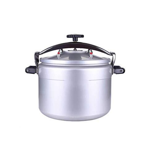 Grote capaciteit stoomkookpan industriële stoomkookpan voor 10/15/20/30/40 personen gasfornuis universele rijstkoker, hoge efficiëntie, snel koken van rijst, aluminiumlegering stoomkookpan 15-50 l 28L zilver