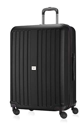 HAUPTSTADTKOFFER - X-Berg - Carry on luggage On-Board Suitcase Cabin Bag Hardside Spinner Trolley 4 Wheel, TSA, 55 cm,Black mat