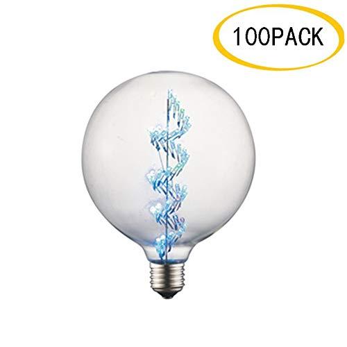 EnweLampi E27 Edison Retro Dimmable Ampoule 3W, Ampoule Spirale pour la Maison ou Commerciale Décoration, Paquet de 100