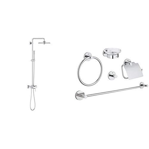 Grohe 23061002 Euphoria Concetto 260 - Sistema de ducha con grifo monomando, alcachofa SmartControl de 260mm con solución de ahorro de agua + Conjunto de accesorios 5 en 1, color cromo (Ref.40344001)